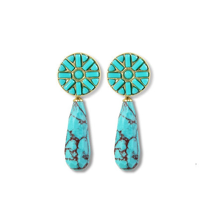 Turquoise Stardust Earrings