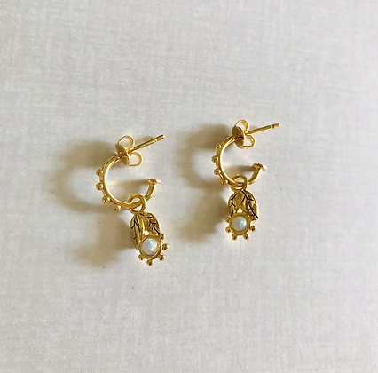 Gold Mildred Hoops