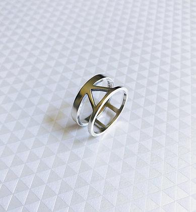 Silver Triad Ring