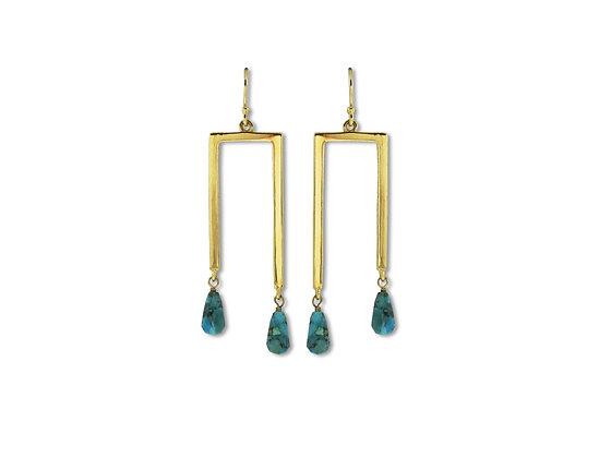 Gold Gemini Earrings