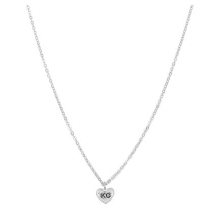 Silver KC Love Necklace