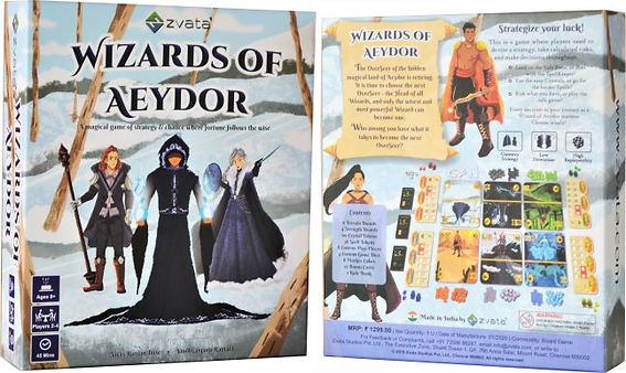 Wizards of Aeydor Board Game India Box F