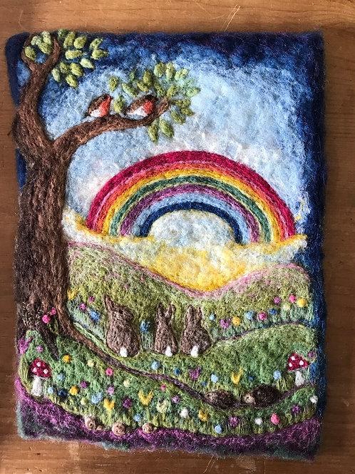 Rabbits, Sunshine and Rainbows - Original