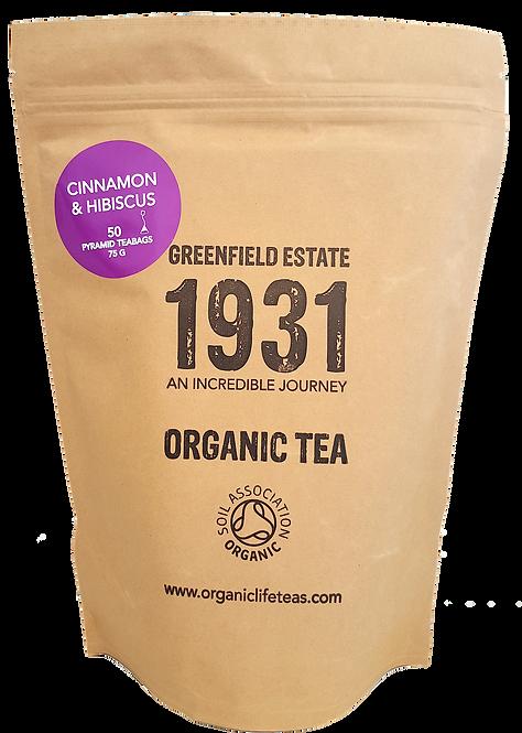 Cinnamon and Hibiscus - 50 pyramid tea bags