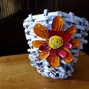 Woven Paper Basket.