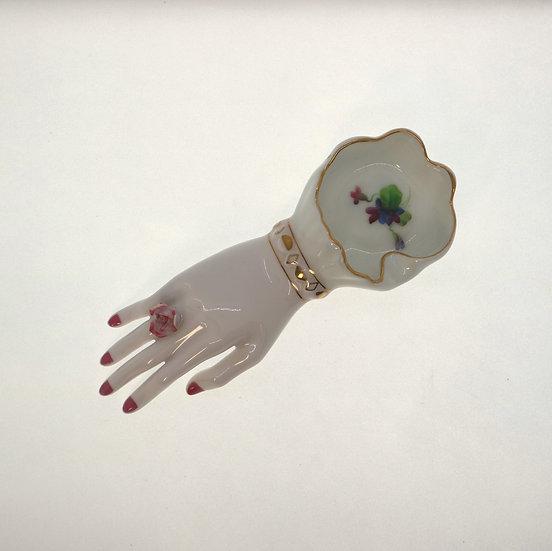 Vintage Hand shape tray