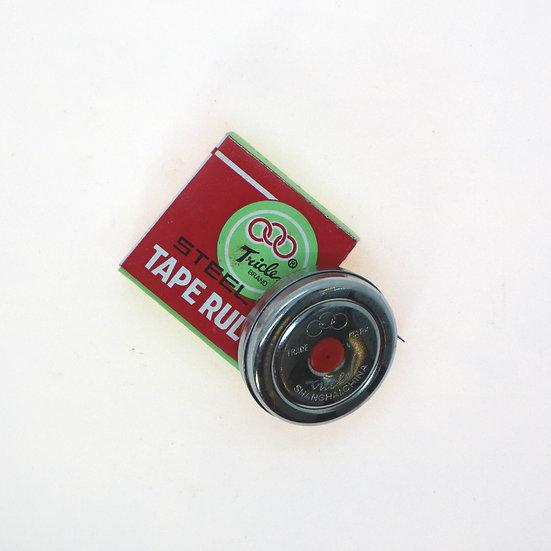 Vintage Chinese Shanghai metal tape ruler