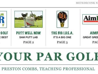Your PAR Golf Newsletter