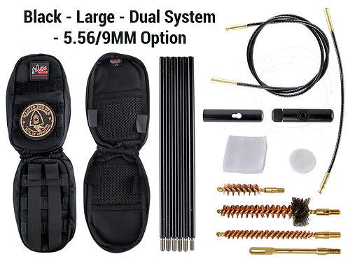 Black -Large - Dual System - 5.56-9mm Op