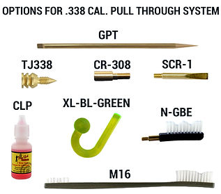 Options for .338 CAL. Pull Through Syste