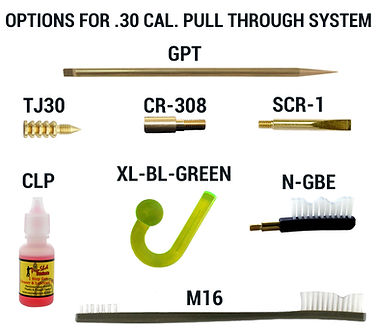 Options for .30 CAL. Pull Through System