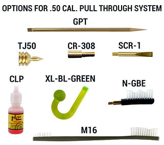 Options for .50 CAL. Pull Through System