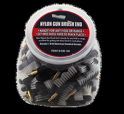 Nylon Gun Brush End-Screws Into Handle/Rod 100 Qty.