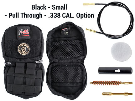 Black -Small - Pull Through - .338 Cal.