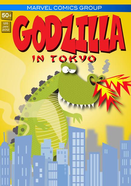 Retro Godzilla Comic