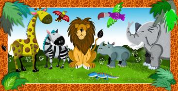 Jungle Jig Saw Puzzle Design