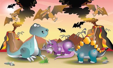 Dinosaur Rug Design