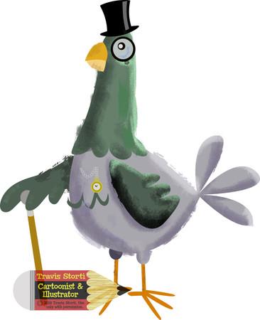Pigeon Character Illustration
