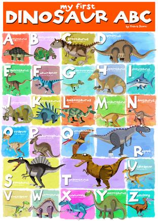Dinosaur ABC Chart
