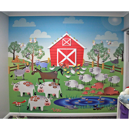 Farm Yard Design Wallpaper