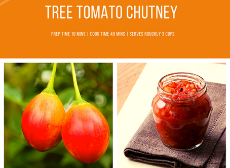Tree Tomato Chutney | Tamalu's Weekly Recipe