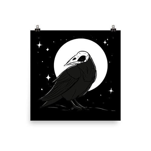 Crow Skull Print
