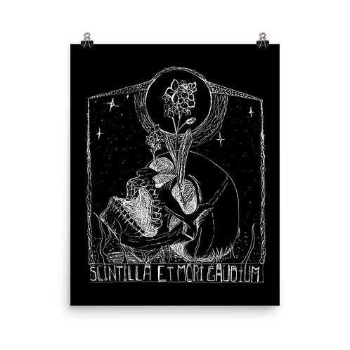 Scintilla et Mori Gaudium Poster Black