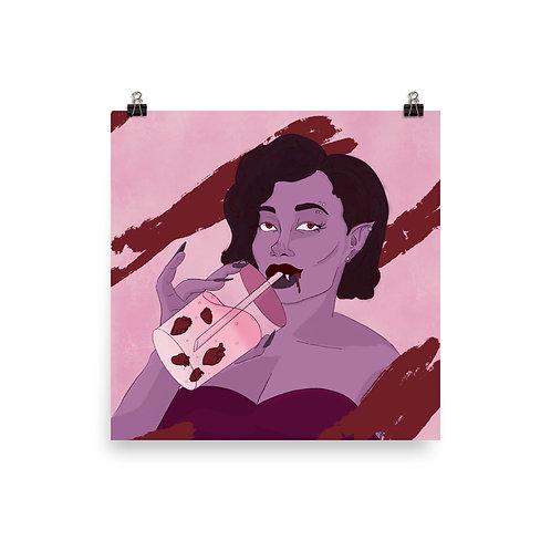 Vampire Boba Print
