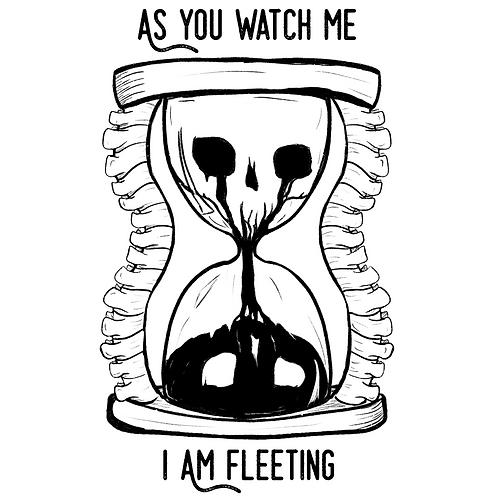 As you watch me I am fleeting tattoo design