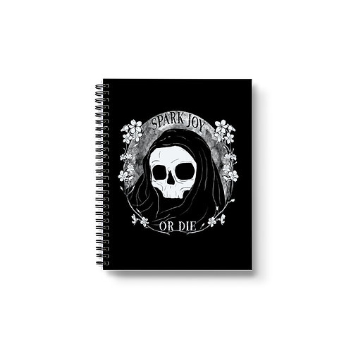 Spark Joy or Die Notebook