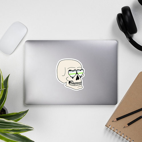 Agender Skull Sticker