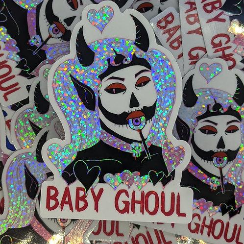 Baby Ghoul Holo Glitter Sticker