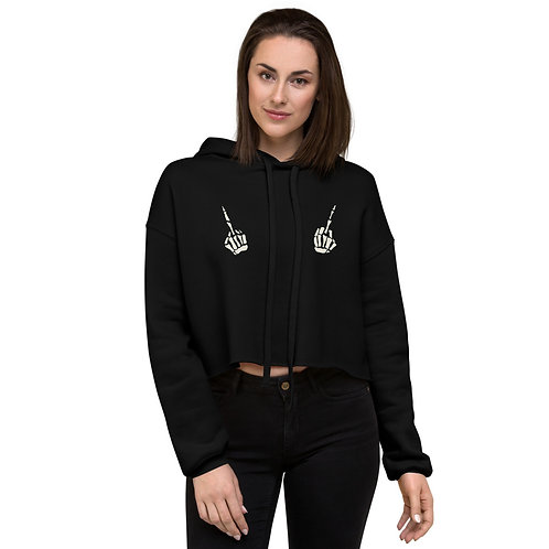 Sapphic without Fear Crop Hoodie