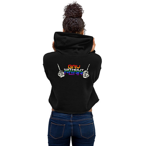 Gay without Fear Crop Hoodie