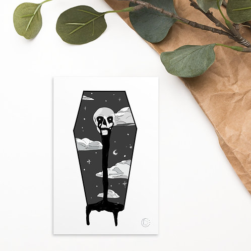Skull in the Clouds Postcard Print