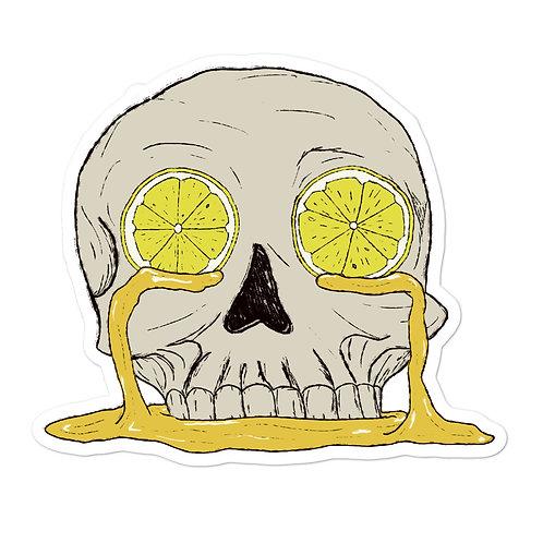 Lemon Skull sticker