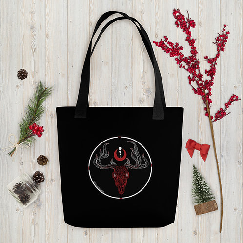 Rudolph the Red Skulled Reindeer Tote