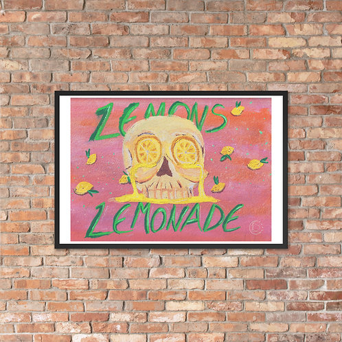 Lemons into Lemonade Framed