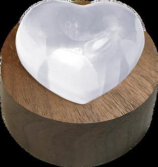 Lampe Coeur Sélénite Reliquaire LD-3