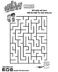 Maze, kids, cartoon, downsyndrome