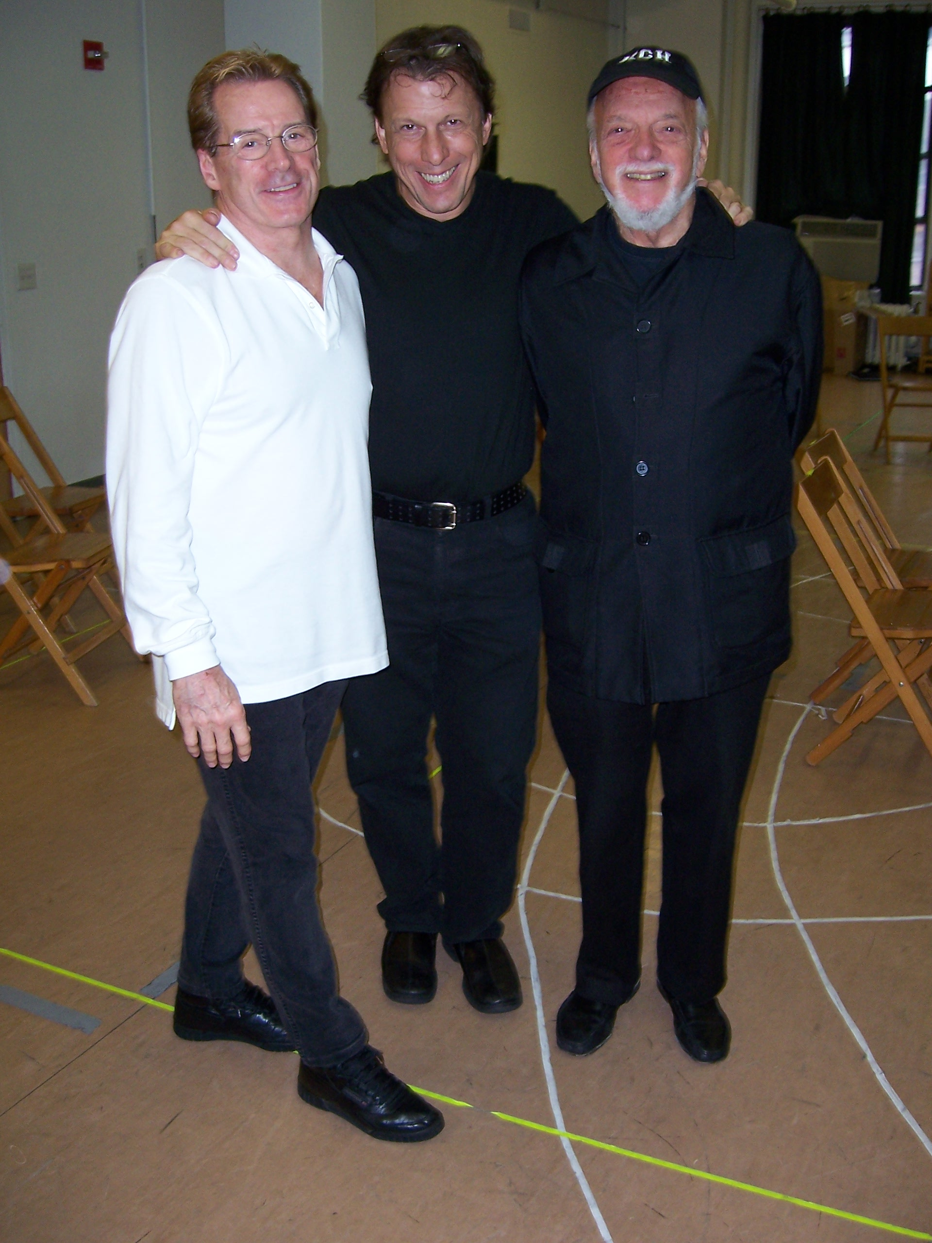 Larry Fuller, Kevin Farrell, Harold Prince.jpg