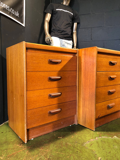 Vintage Retro Mid Century William Lawrence Bedside Cabinets