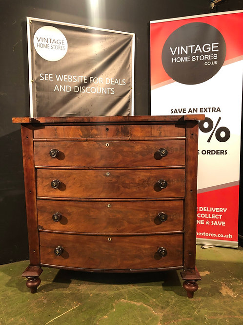Vintage Antique Victorian Scotch Chest of Drawers