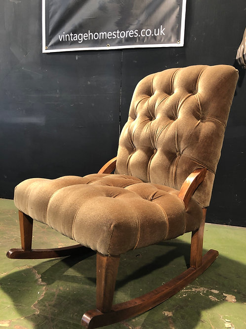 Handsome Edwardian Chesterfield Rocking Chair
