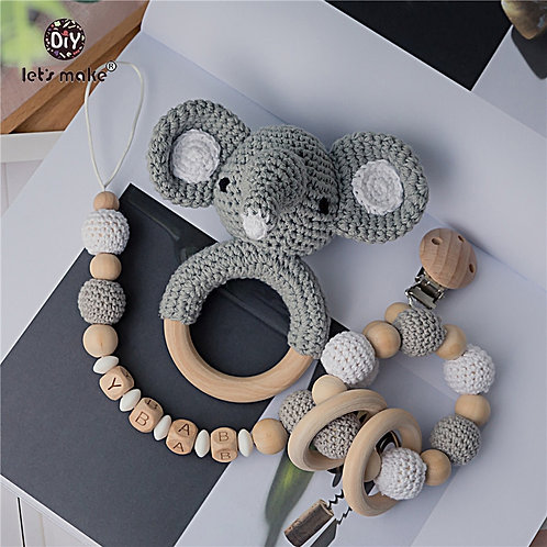 Baby Toys 1set Crochet Amigurumi Elephant  Newborn Montessori Educational Toy
