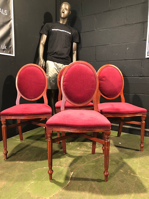 Set of 4 Vintage Rococo Style Chairs