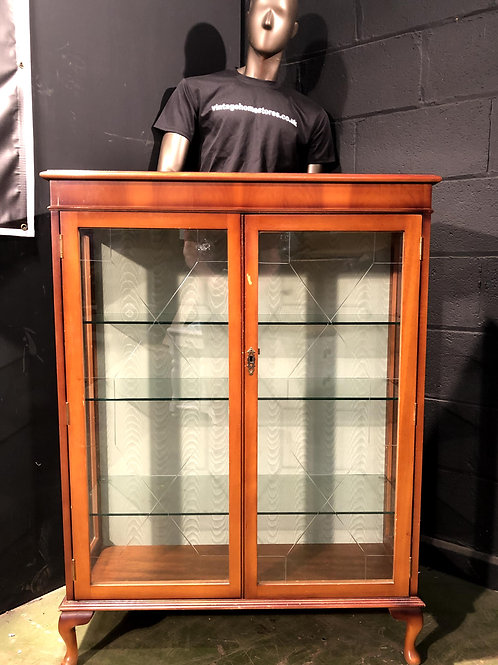 Vintage Style Glass Fronted Display Cabinet