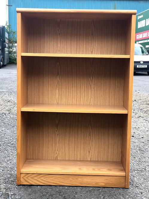 Oak and Oak Veneer Bookcase