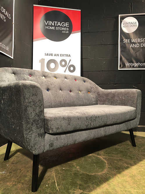 Super Modern Grey Designer Style Sofa with Multicoloured Buttons