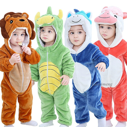 Baby Winter Costume for Girls Boys Animal Infant Clothes Pyjamas Kids Overalls